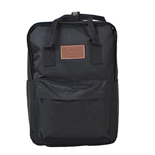 Lässiger Unisex Rucksack - Vancouver - Backpack für Damen & Herren, 12L, Daypack für Schule, Universität, Reisen, Wandern und Camping aus hochwertigem 600D Polyestergewebe von Ocean5, Farbe: Schwarz