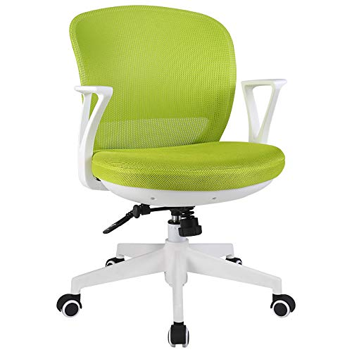 WCURT, Computer Büro Konferenzraum Arbeitsstuhl, höhenverstellbarer 360 ° Drehstuhl, ergonomischer Stuhl, schwarz grau-Green