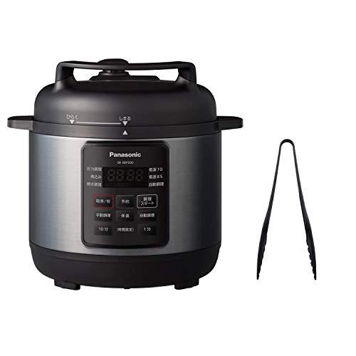 パナソニック 電気圧力鍋 3L(満水容量3L/調理容量2L) 圧力/低温/無水/煮込/自動調理 SR-MP300-K & パール金属 Colors パームナイロン トング G-4387 セット