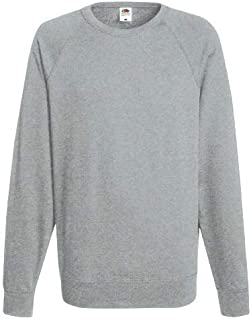 Men Plain Fleece Sweatshirt Jersey Jumper Sweater Pullover Work Gym Causal Top Size UK S-XL