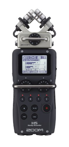 Zoom H5 4-Track Portable Recorder for Audio for Video, Music, and Podcasting, Stereo Microphones, 2 XLR/TRS Inputs, USB Audio Interface, Battery Powered