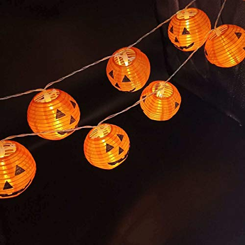Zjd Colorful Halloween Lighting,Battery/Solar Powered 10/20/30 Led Halloween Pumpkin Lantern String Light Garden Party Pumpkin Lantern Outdoor Decoration (Color : Solar 5m 20Led)