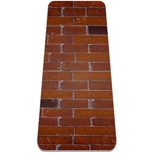 Josidd Brick Textures - Esterilla de yoga para mujeres y hombres, de TPE gruesa, 6 mm, respetuosa con el medio ambiente, antideslizante, para yoga, pilates y ejercicios de suelo