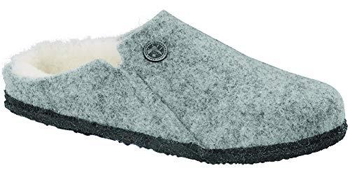 BIRKENSTOCK Women's Zermatt Casual Shoes Light Grey Wool EU Size: 38 - US Size: 7/7.5 Narrow