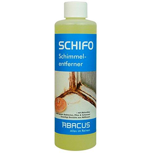 SCHIFO 500 ml (2432) - Schimmelentferner Pilzentferner Bakterienentferner Fugenreiniger Schimmelflecken Entferner aus Kacheln Duschvorhängen Putz Tapeten Holz - ABACUS