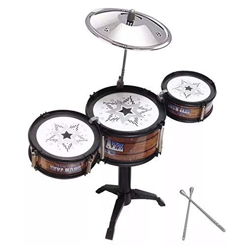 Mini Bateria - Jazz Drum Brinquedo Musical - Rock Guitar