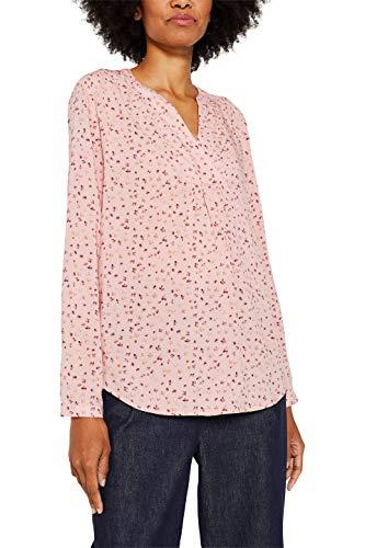 ESPRIT Damen 119EE1F001 Bluse, Rosa (Blush 665), (Herstellergröße: 36)