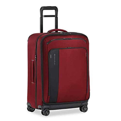 Briggs & Riley ZDX-Expandable Luggage with 4 Spinner Wheels, Brick, Checked-Medium 26-Inch
