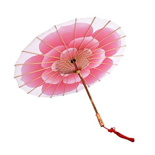 SUPVOX Ombrello di carta olio asiatico cinese giapponese ombrello di seta Photo Booth puntelli di grandi dimensioni rosso