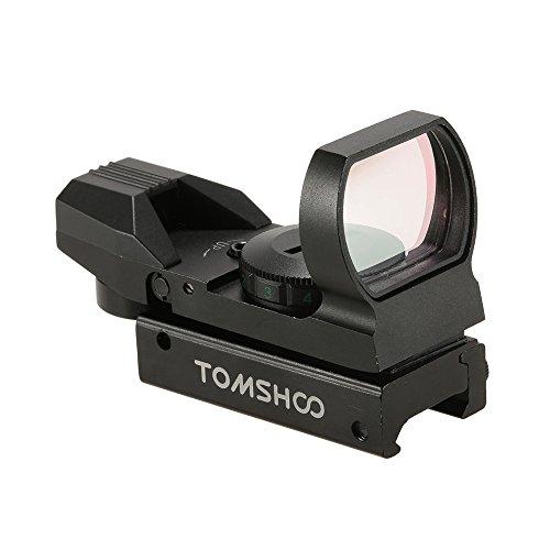 TOMSHOO Zielvisier 1X22X33 Rot Grün Dot Anblick Punkt Zielfernrohr Zielgerät mit 20mm Schiene und 4 Absehen zur Auswahl