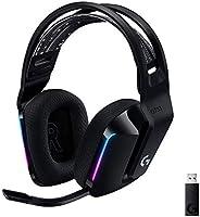 Logitech G733 Lightspeed Wireless Gaming Headset with Suspension Headband, LIGHTSYNC RGB, Blue VO!CE mic Technology and...