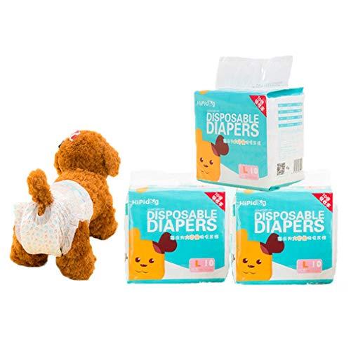 Einstellbare Hundewindeln Hund Hygieneunterhose Mit Magictape Werke Für Kleine Bis Mittlere Groß Hündchen (Size : L)