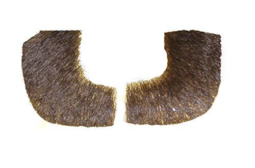 2019 (Med brown) Human Hair Pork Chop Sideburns