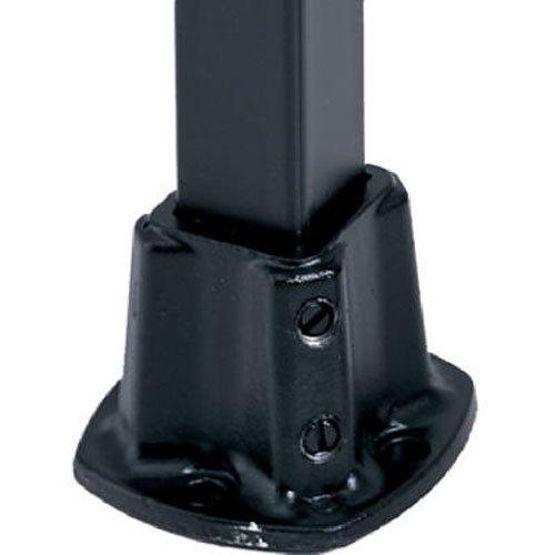 GILPIN IRONWORKS 579 1-1/4BLK Floor PostFlange, Black