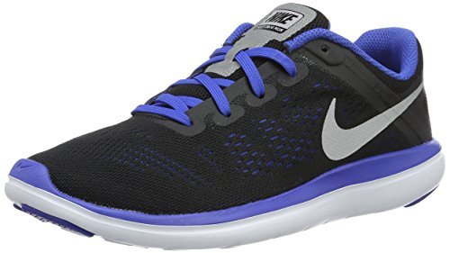Nike Nike Jungen Flex 2016 Rn (Gs) Laufschuhe, Black (Black (schwarz / silber-metallic-Spiel royal-white)), 36.5 EU