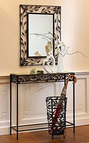 Gilde Miroir Pianta Métal Brun Foncé Hauteur 80 cm, Objet Mural, Maison, Appartement