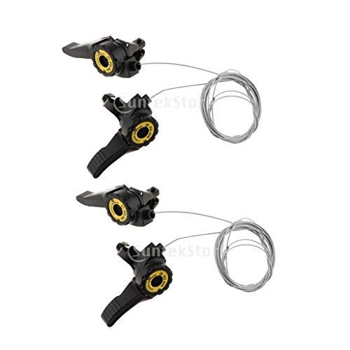 MagiDeal 2 Pares 3X 5/6/7 Bicicleta Palanca de Cambio Velocidad Superior Desplazadores...
