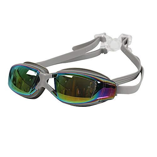 TOMYEER Premium Schnorchelset Erwachsene Tauchmaske Schnorcheln Taucherbrille Schwimmbrille Maske Trockenes Schnorchelset Grau