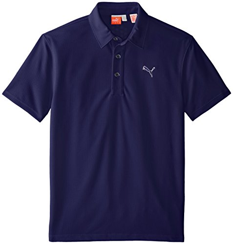 Puma Golf Boys Junior Tech Polo, Peacoat, X-Small