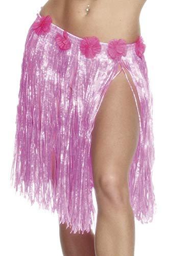 Pink Leaf Beach Party Fancy Dress 28966 Ladies Accessory Hawaiian Hula Skirt