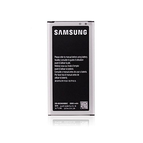 Blue Star - Bateria Original Samsung BG900BBE con 2800 mAh de Capacidad - Carga rápida 2.0 para Samsung Galaxy S5 - Bulk sin caja