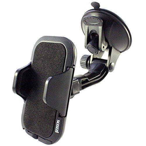 Supporto Auto scozzi 360° Per [Samsung Galaxy S10 S9 S8 S7 S6 S5 S5 S4 S3 S2 A3 A5 J7 J5 J3 J1 Xcover + mini edge plus] Parabrezza Ventosa Nero (am6)