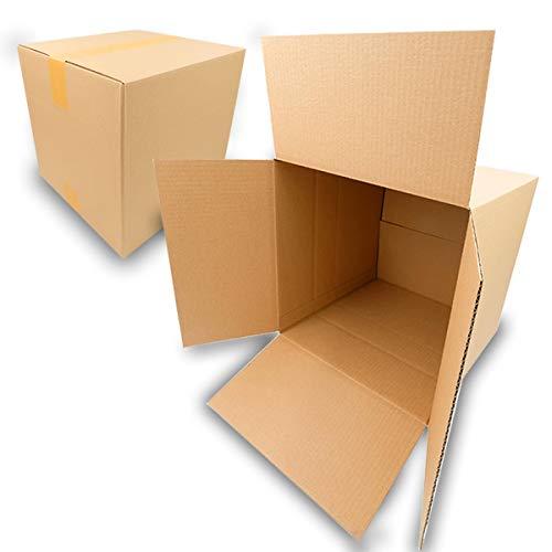 25 Faltkartons 300x300x300mm braun KK 40 1 wellig viereckige Versandkartons | DHL Paket 5Kg | DPD M | GLS M | H M Paket | für mittelgroße Waren, mittelgroße Kartons, kubische Kartons