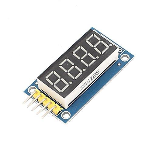 Aexit Módulo de pantalla LED paralela de tubo rojo digital de 5 pines, 5 (model: M7250IIVI-7676NR) pines, DC 3.3V-5V