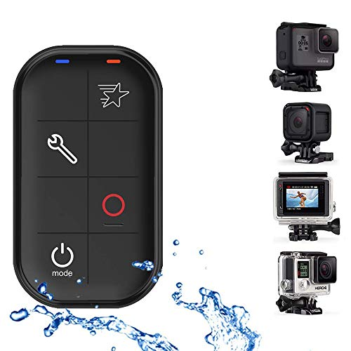 iafer Remote Compatible with GoPro HERO6 Black, HERO5 Black, HERO5 Session, Hero 4 Black, HERO4 Silver, HERO5 Session, Hero+ LCD, Hero+, WiFi Waterproof Remote Control with Charing Cable Wrist Strap