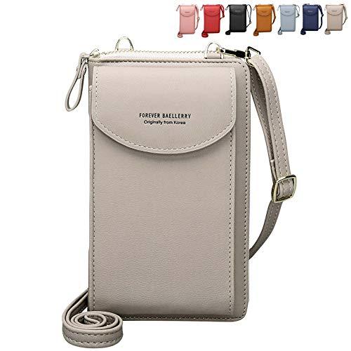 Crossbody Tasche Handytasche Brieftasche Damen Umhängetasche Geldbörse mit Cre...