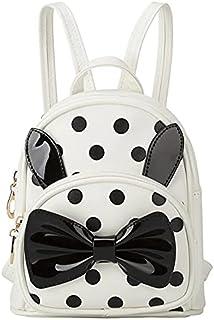 ShopyVid® Girls Cute Polka Dot Stylish Backpack for Girls (Cream)