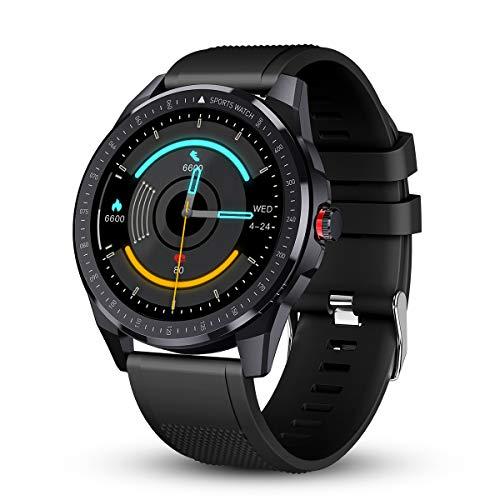 GOKOO Smartwatch Orologio Uomo Fitness Tracker Cardiofrequenzimetro IP68 Impermeabile Orologio Fitness Activity Tracker Touchscreen Orologio Sportivo Uomo compatibile con iOS Android