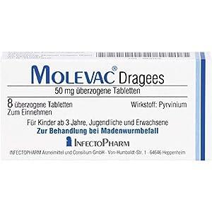 Wirkstoff: Pyrvinium zur Behandlung bei Madenwurmbefall apothekenpflichtiges Arzneimittel (PZN: 00683476) Hersteller: Infectopharm Arzneimittel und Consilium GmbH, Deutschland (Originalprodukt)