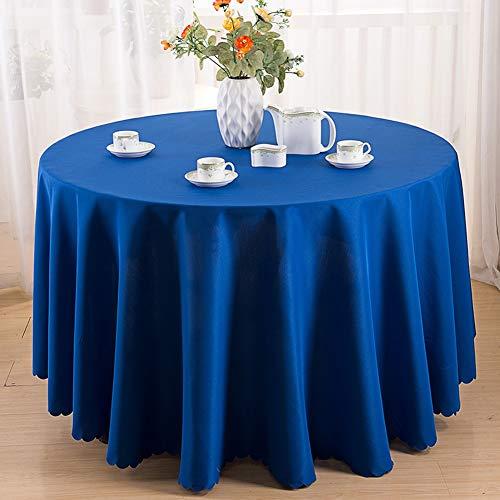 XBSLJ tafelkleed, rond, vierkant, eenkleurig, polyester, vuilafstotend, voor keuken, eetkamer, hotel, banket, blauw, 3901,118 inch