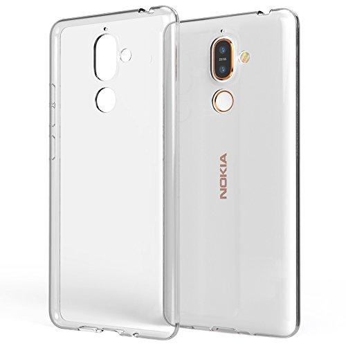 NALIA Handyhülle kompatibel mit Nokia 7 Plus, Soft Slim TPU Silikon Hülle Cover Crystal Clear Schutzhülle Dünn Durchsichtig, Etui Handy-Tasche Backcover Transparent, Smart-Phone Schutz Bumper