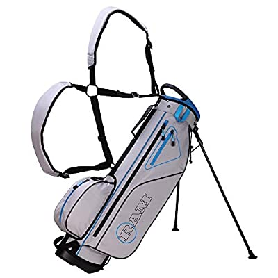 RAM Golf Lightweight Stand Carry/Sunday Bag Navy/Orange