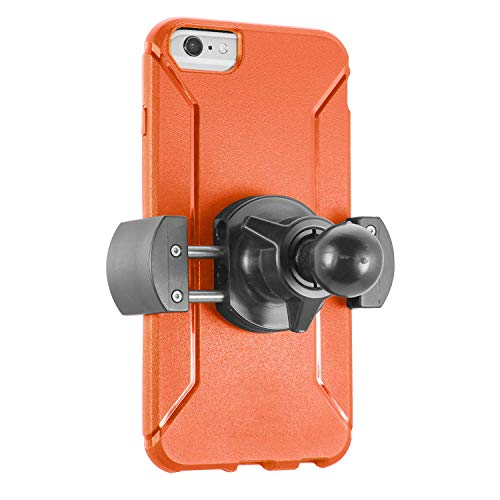 iBOLT Roadvise Holder w/ 25mm / 1-inch Ball for for All Industry Standard 1 inch / 25 mm mounts- Works w/Smartphones (iPhone X Max, iPhone Xr) from 2 inches to 4 inches Wide
