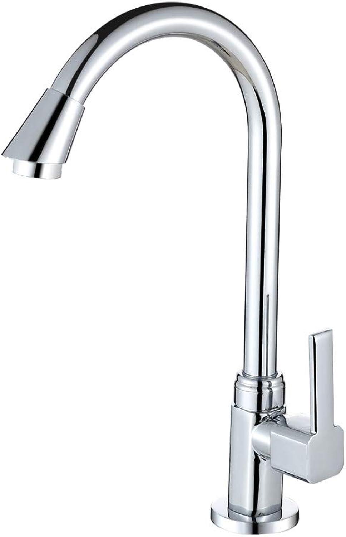 Single Cold Kitchen Faucet Sink Sink Faucet Universal Faucet Copper Household Basin Faucet