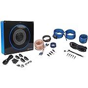 "Rockville RW8CA 8"" 600 Watt Under-Seat Slim Amplified Car Subwoofer +Wire Kit"