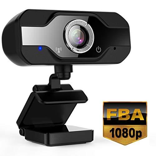 Yobuno Webcam mit Mikrofon, 1080P PC Webkamera USB Laptop Desktop, Videokamera für Videoanruf, Telearbeit, Online Kurs und Heimarbeit