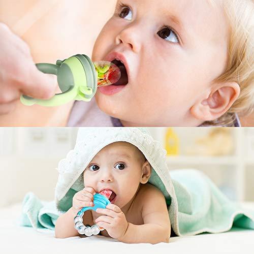 Fruchtsauger Baby Obst Fütterung Babynahrung Rassel Schnuller Spielzeug für Kleinkinder (Junge, 8 stück) - 6