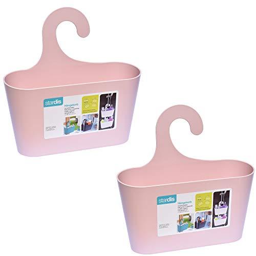 stardis 2er-Set Duschkorb zum Hängen - ohne Bohren - Duschablage aus Kunststoff Bad-Regal...