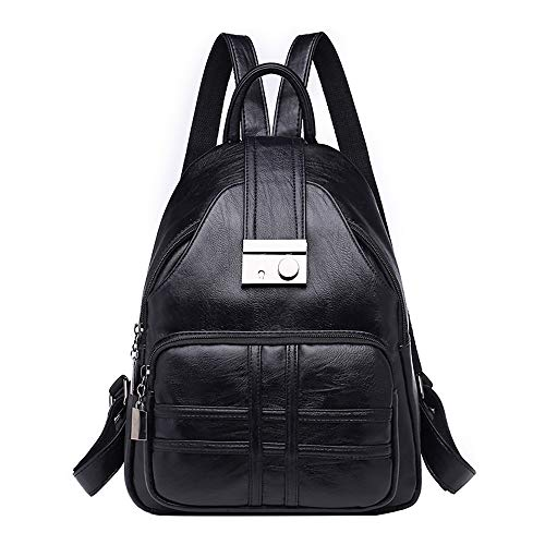 FORUU Bags, 2020 Best Gift For Father Lover Boyfriend Husband Trendy Stylish Unisex Women Backpack Simple Casual Soft Leather Anti-theft Travel Small Backpack