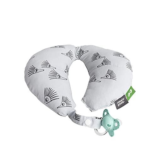 SIMPLY GOOD. Cojín de cuello de bebé simple y bueno para viajar.Tamaño pequeño para edades de 0 a 12 meses (erizos grises)