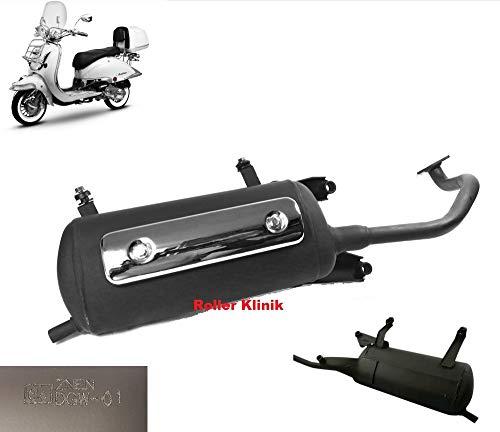 Auspuff Anlage GY6 4-Takt China Retro Roller 125, 150 ccm 4Takt z.B.passend für ZNEN BENZHOU YIYING REX