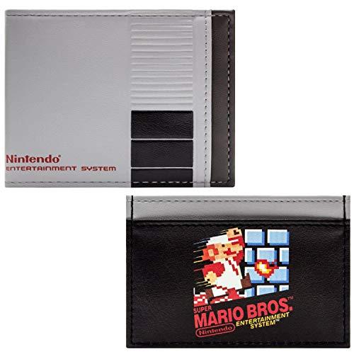 Set de Cartera NES Estilo de Consola con Super Mario Bros Gris