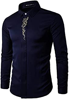 UD FABRIC Casual Cotton Embroidery Man Shirt ' Slim Fit