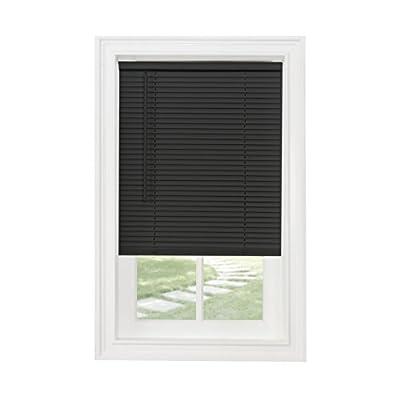 "Achim Home Furnishings Cordless GII Morningstar 1"" Light Filtering Mini Blind, Length 64inch Drop X Width 48inch, Black"
