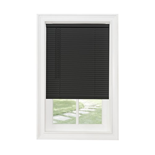 Achim Home Furnishings Cordless GII Morningstar 1 Light Filtering Mini Blind, Length 64inch Drop X Widht 35inch, Black