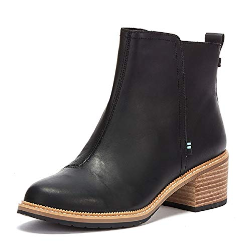 TOMS - Womens Marina Bootie, Size: 6 B(M) US, Color: Black Smooth Waxy Leather